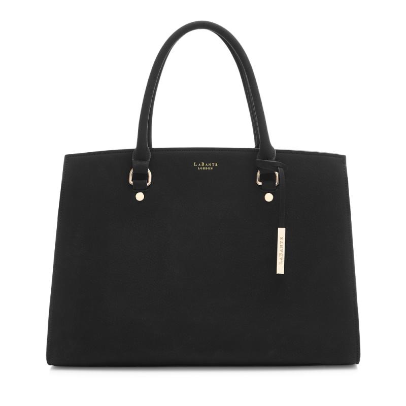 Aricia Black Carryall Handbag