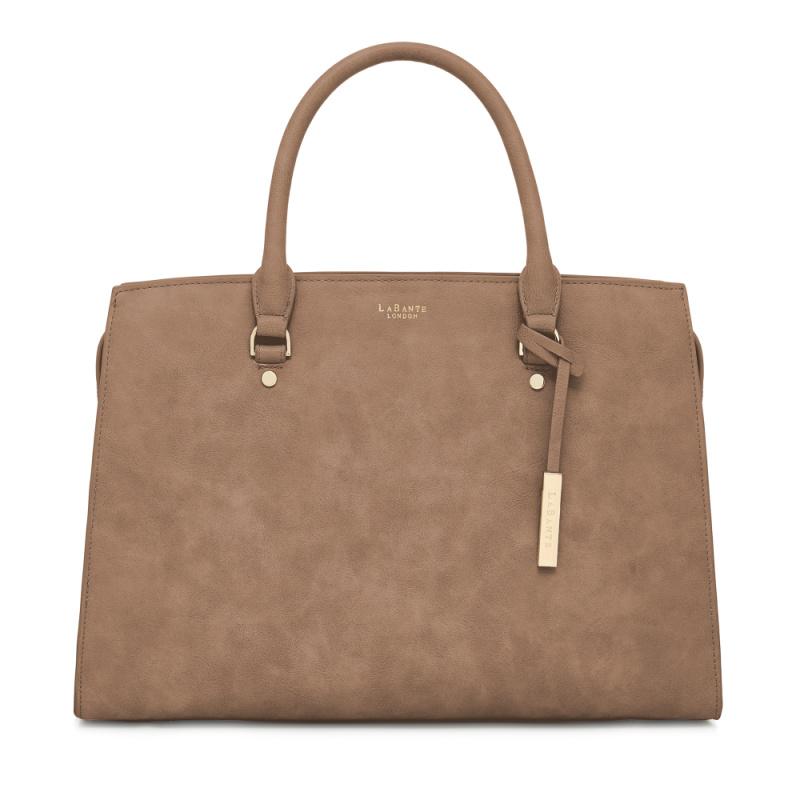 Aricia Brown Carryall Handbag