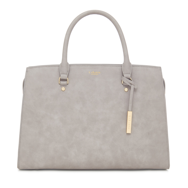 Aricia Grey Carryall Handbag