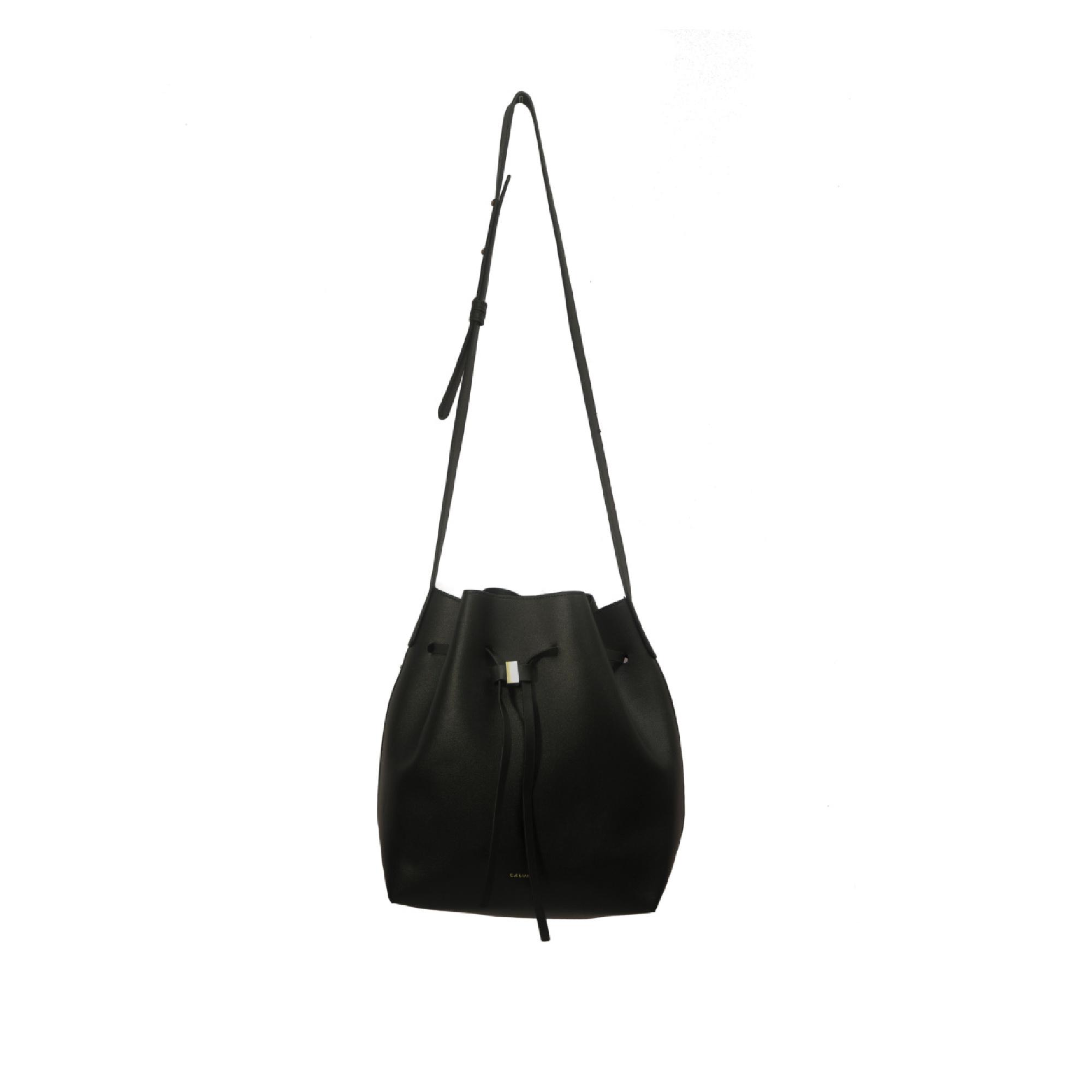 Drawstring Bucket Bag - Onyx Black