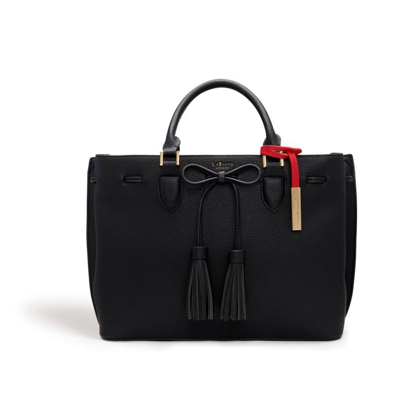 Audrey Black Tote Bag