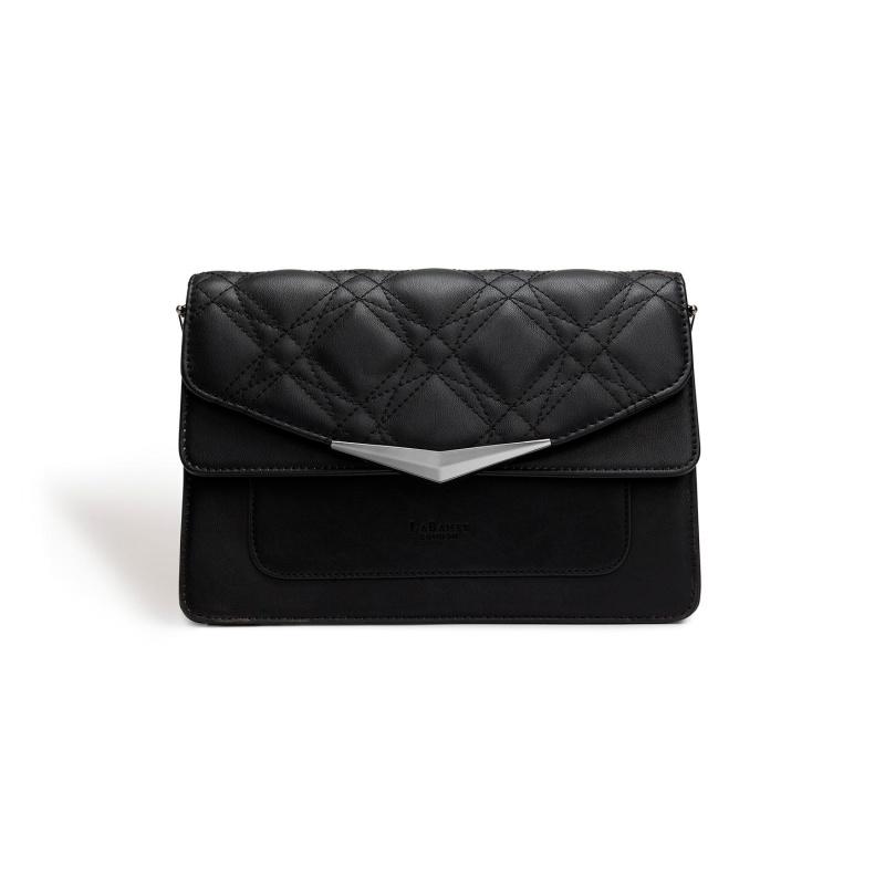 Marlene Black Quilt Cross Body Bag
