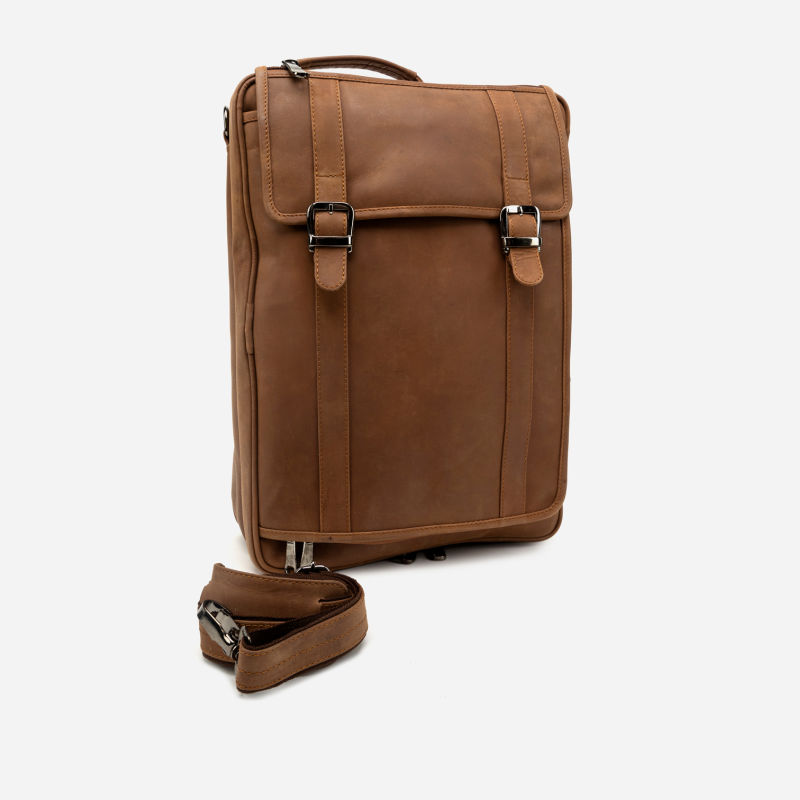 3-WAY COMMUTER - LEATHER BRIEF/BACKPACK