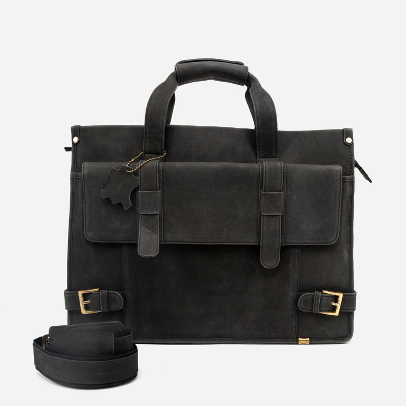 GUY FRIDAY - LEATHER BRIEFCASE