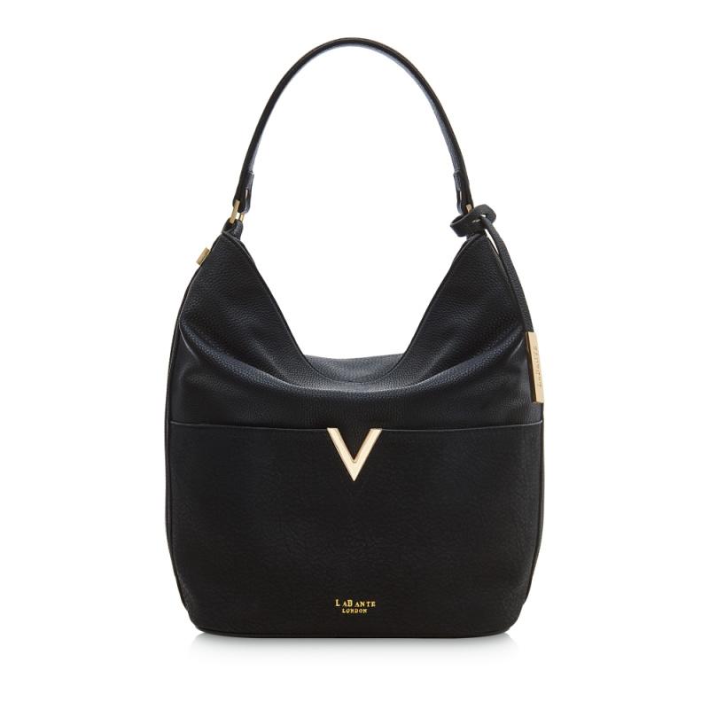 Tia Black Hobo Bag