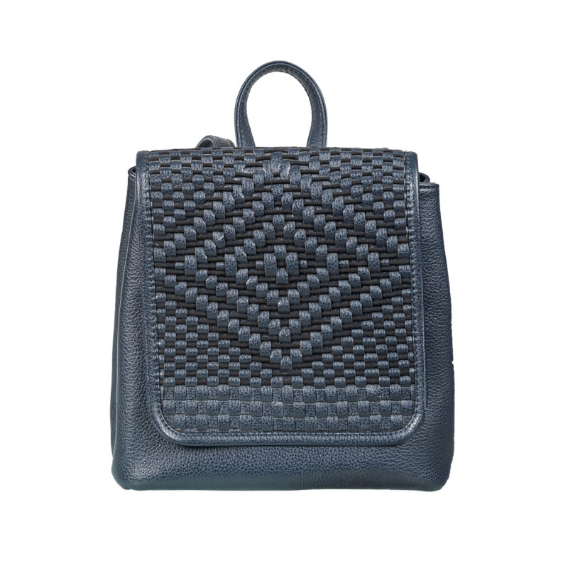 Blue Woven Backpack