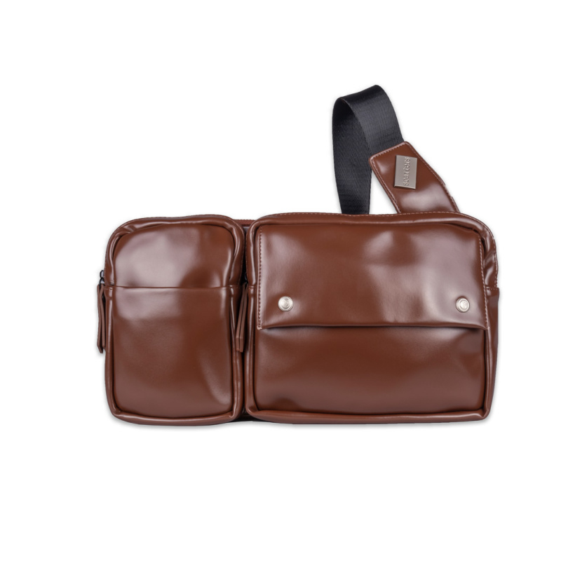 Scarters Premium Leather Sling Bag for Daily Use: Brown
