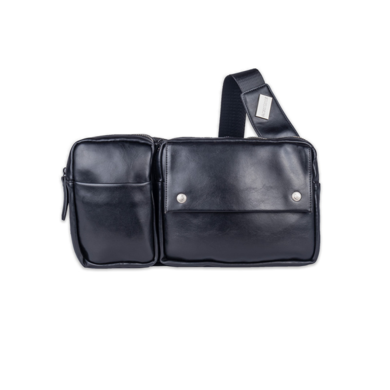 Scarters Premium Leather Sling Bag for Daily Use: Black