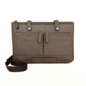 13 inch Leather Laptop Sling Brown