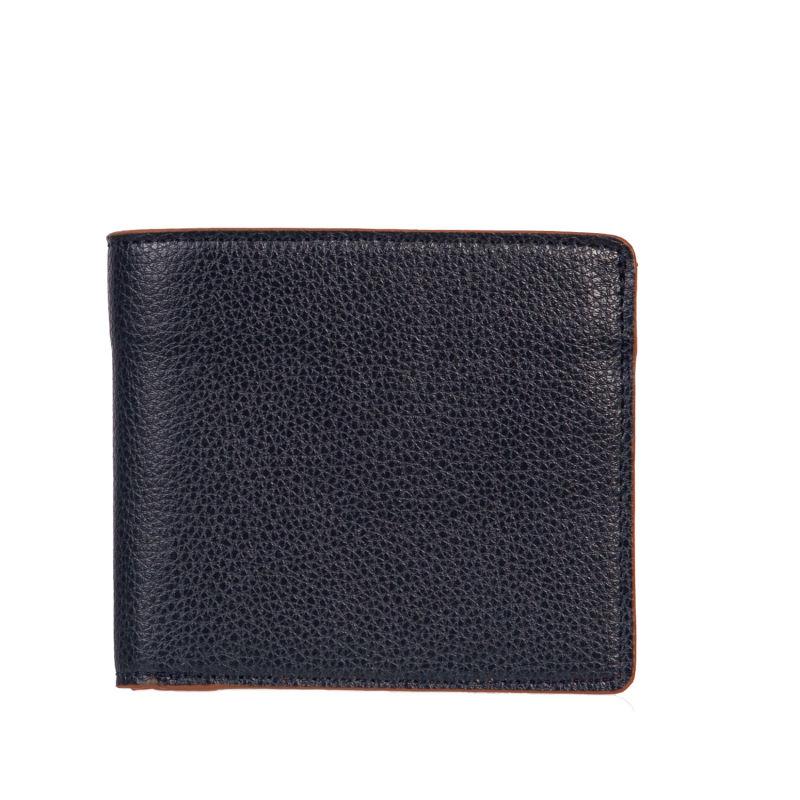 Blue and Tan Minimalist Wallet