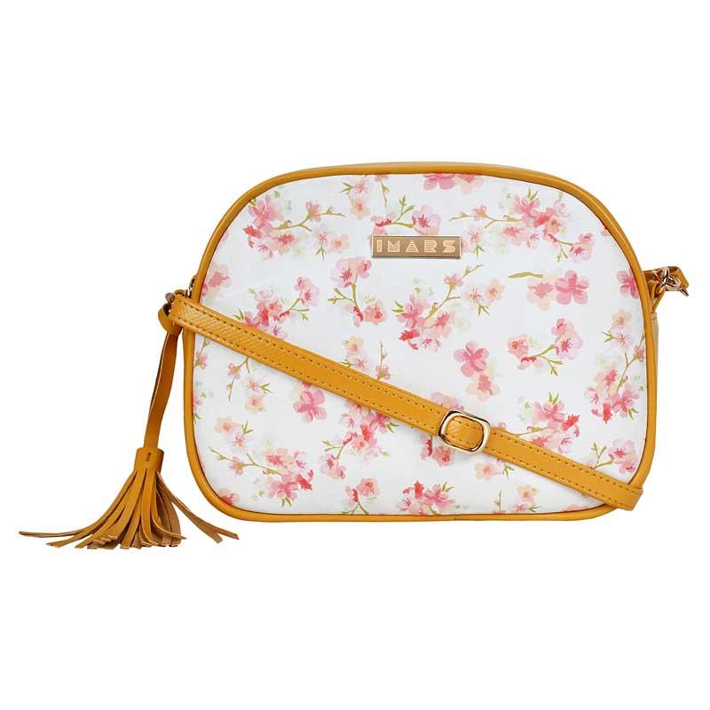 IMARS FASHION Crossbody Sling Bag-Yellow Floral