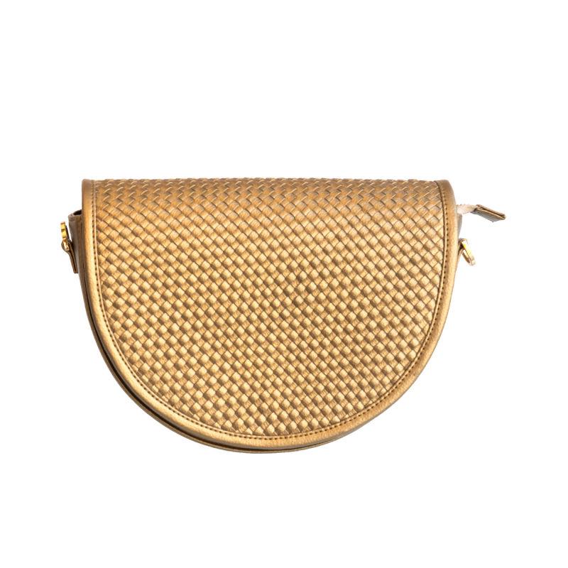 Gold Halfmoon Shoulder Bag
