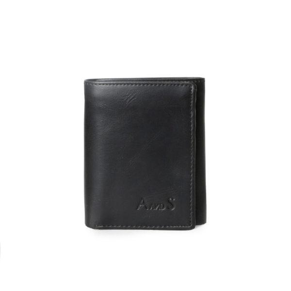 Tri Fold Men_s Wallet Black