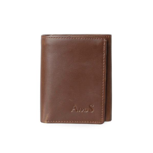Tri Fold Men_s Wallet Brown