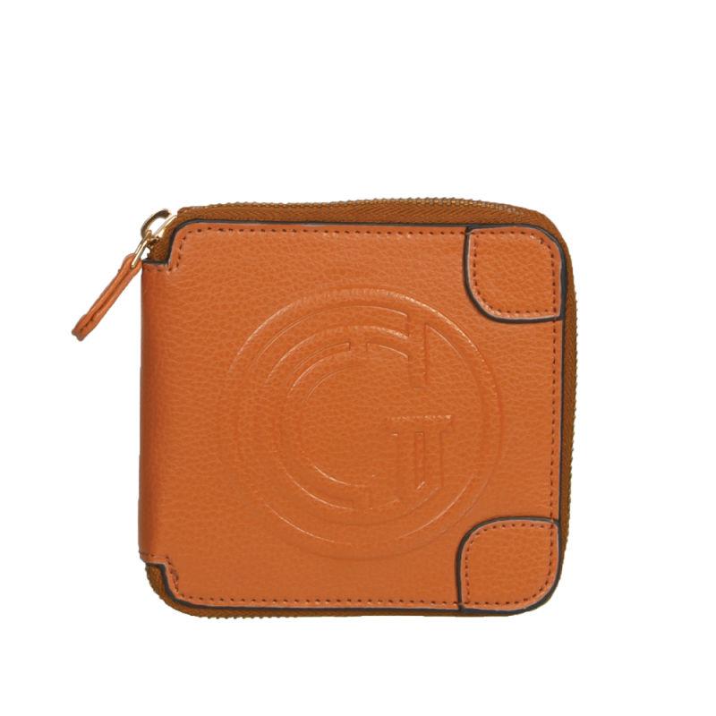 Tan Mini Autograph Zipper Wallet