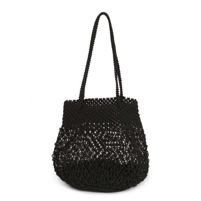 IMARS Macrame Beach Bag- Black