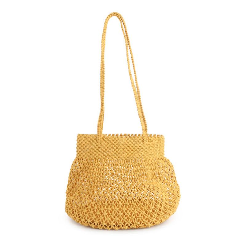 IMARS Macrame Beach Bag- Yellow