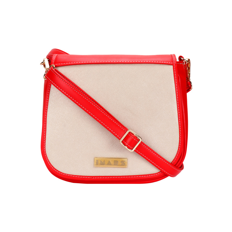 IMARS FLORAL FLAP SATCHEL STYLISH SLING BAG FOR GIRLS AND WOMEN (RED)