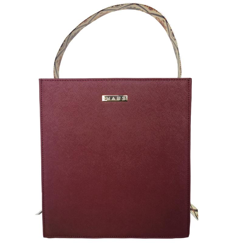 IMARS Structured Handbag-Cherry Patola