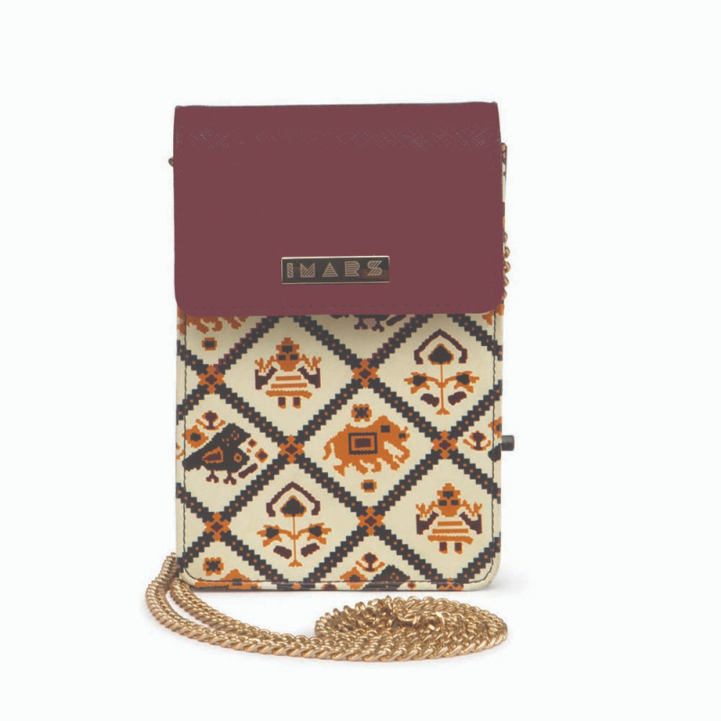 IMARS Structured Mobile Pouch-Cherry Patola