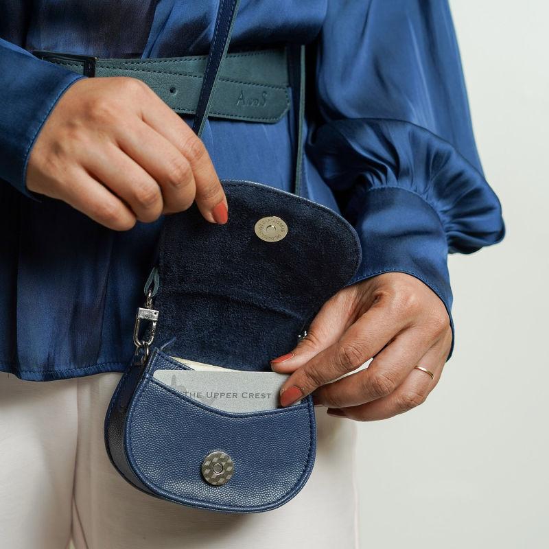 Mini Purse with Sling - Slate Blue