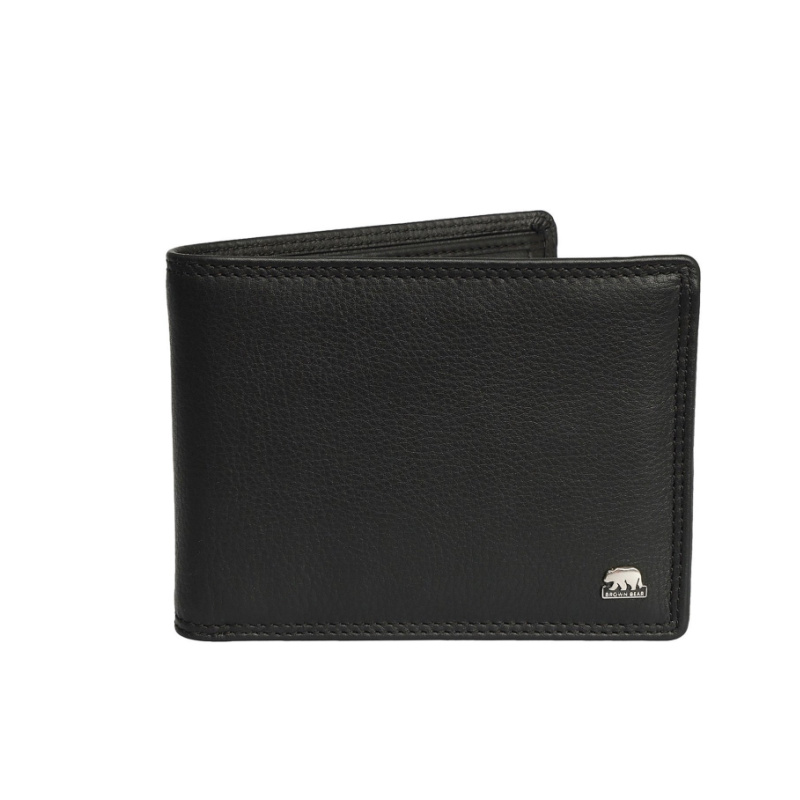 Brown Bear Design Germany Men's Wallet 1640 : Black