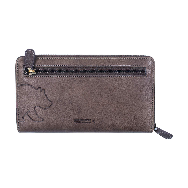 Brown Bear Design Germany Ladies Wallet : BB Vintage Leoni Gy : Grey