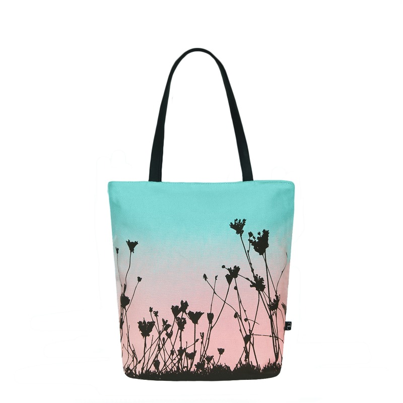 EcoRight Canvas Tote Bag with Vegan Handles : Sunset Hues